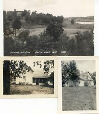 Shell Lake Wis 1postcard +2small private photos