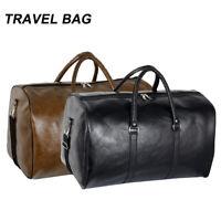 Men Leather Duffle Weekend Bag Gym Travel Bag Luggage Leather Handbag Holdall UK