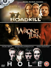 ROADKILL WRONG TURN THE HOLEDVD Triple Bill Horror Films BoxSet UK Brand New R2