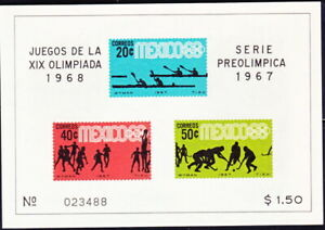 MEXICO  1968 OLYMPIC   S S W/INVERTED WATERMATK  SC#983a   CV$$$+(A1353)