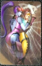 WIDOW TRACER Overwatch Sticker Card ID Bank Game Party Loot SEXY Decal PC