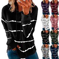 Women Long Sleeve T-shirt Tops Ladies Casual  Jumper Blouse Pullovers Tunic LIU9