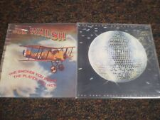 JOE WALSH 2 LP VINYL LOT: THE SMOKER YOU DRINK.., YOU CAN'T ARGUE WITH SICK MIND