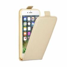 "FUNDA PARA IPHONE 7 4.7"" CON TAPA IMAN VERTICAL FINA COLOR ORO DORADA TARJETERO"