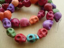 halloween synthetic howlite skull x40(approx)mix colour