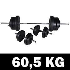 vidaXL Barbell + 2 Dumbbell Set - 60.5Kg