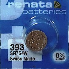 393 RENATA SR754W WATCH BATTERY New packaging Authorized Seller
