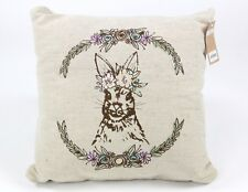 TwelveNYC Rabbit Decorative Throw Pillow 15 In NWT