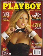 LINDSEY ROEPER Playboy Magazine 11/07 CHUCK LIDDELL MATT LEINART ROBERT REDFORD