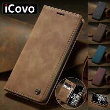 Phone Wallet Matte Leather Case For Samsung Galaxy Note Flip Stand Accessories