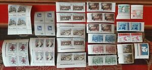 PERU nice lot mnh mint block of 4 + pairs mid 1970s; 47 stamps total