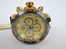 Invicta Men's Venom Chronograph Watch Gold Dial Black Strap 24258 Big Face