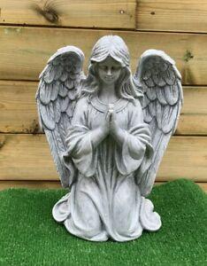 Praying Angel with Wings Grave Cemetery Memorial Ornament (Medium)