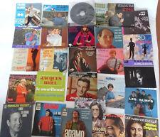 collection de 26 disques 45trs -french Ep 45rpm 1960 /70 etat collection EX/EX
