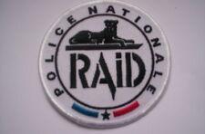 Patch Police france Police Nationale RAID en blanco ca 9cm