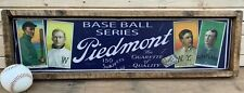 Antique Style T206 Piedmont Blue Back Wood Printed Sign AWESOME!! Ty Cobb 9x36