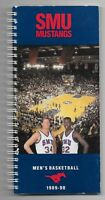 1989-90 SMU Mustangs Men's Basketball Spiral Bound Media Guide