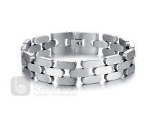 Men's Trendy Design Stainless Steel Bracelet Bangle Cuff - USA Seller