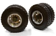 RC Car C26579GUN Alloy T5 R Dually Wheel & XC Tire for Tamiya 1/14 Scale Trucks
