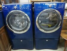 Electrolux Matching Washer And Dryer - Metallic Blue - With Pestles - Gas Dryer