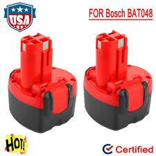 2X 9.6V Ni-CD Battery For Bosch BAT048 PSR 960 PAG 9.6V BAT119 BPT1041 BAT049 US