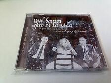 """CD """"QUE BONITA ES LA VIDA"""" CD 16 TRACKS COMO NUEVO JUSTO MOLINERO ROBERT ESPADA"""