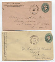 3 interesting 1890s stationery items better cancels [L.455]