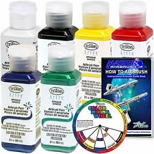 6 Color - Testors Aztek Premium Opaque Semi-Gloss Acrylic Airbrush Paint Set and