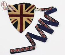 Vintage Union Jack Dog Collar, Lead & Bandanna Set
