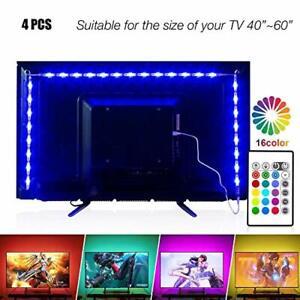 LED Strip Lights 6.56ft for 40-60in TV Color Changing Mood Lights Suitable New