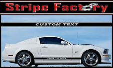 FORD MUSTANG FRONT DOOR CUSTOM TEXT ROCKER STRIPE FACTORY 2005 TO 2014