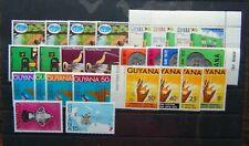 Guyana 1971 1976 Road Republic Christmas Conference Arts Cricket MNH
