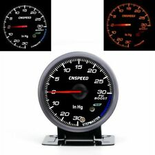 "Universal 2.5"" 60MM Car Turbo Boost Gauge Meter PSI Black Face + Pressure Sensor"