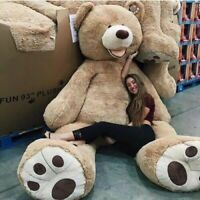 260cm/2.6M Light Brown Giant Skin Teddy Bear Big Stuffed Toy Gift (Only Cover)AU
