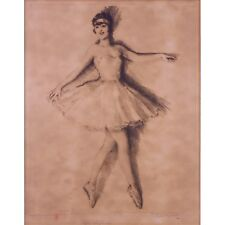 "GRANDGÉRARD Lucien Henri (French,1880 -1970), ""Sylvia"" Ballerina Drypoint LISTED"