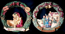 2 Windsor Collection Merry Christmas Silent Night Ceramic Christmas Wreath Wall