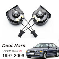 Auto Snail Horns 12V 125db Waterproof High Low Pitch For BMW 3 Series E46 97-06