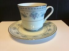 """Seizan Fine China """"Blue Dawn"""" Footed Cup And Saucer"""