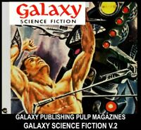 Pulp Magazines GALAXY SCIENCE FICTION DVD [2] Golden Age Sci Fi Stories Book lot