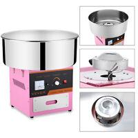 Máquina de Algodón de Azúcar Candyfloss Rosa Eléctrica Nube Algodon de Azucar