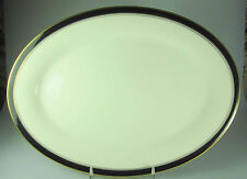 "Noritake Ivory & Ebony LARGE OVAL PLATTER 16 1/4""   - perfect"