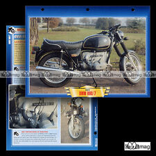 #023.06 Fiche Moto BMW 600 R60 /7 R 60 SERIE 7 1976-1978 Classic Motorcycle Card