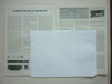 9/1980 ARTICLE 3 PAGES CRYPTOGRAPHIE CRYPTOGRAPHY GESTION DES CLES HAGELIN