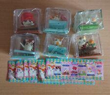 Yujin capsule Hamtaro figure in the plastic box Part.1 Full set of 6 pcs