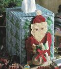 FOLKSY SANTA TISSUE BOX COVER CHRISTMAS PLASTIC CANVAS PATTERN INSTRUCTIONS