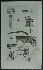 1786 PRINT ~ PNEUMATICS WHISPERING PLACE WIND-GUN WIND-MILL VARIOUS