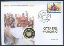 """Vatikan Numisbrief mit 2 Euro 2015 """"Jahr der Familie"""" PP / Proof."""