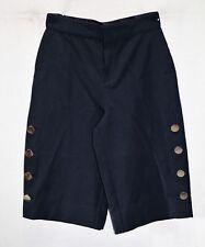 PINK TARTAN Brand Navy High Waist Wide Leg Side Button Culottes Sz 4 BNWT #TN39