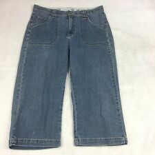 Lee Womens Jeans Size 12M Comfort Waistband Stretch Back Pockets With Flaps