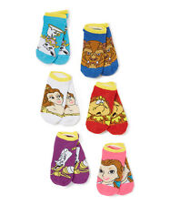 BEAUTY & THE BEAST CHARACTER PED SOCKS SET OF 5 KID SIZE ONE SIZE FITS MOST
